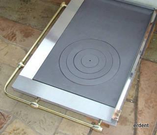 Plaque cuisson retro ls1 j avec cadre inox for Plaque induction avec cadre inox